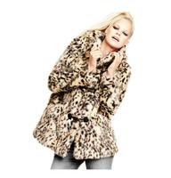 2014 women sexy leopard print fur jacket  fashion style six  size women coat women fur coat horn button  leopard coat
