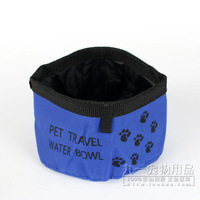 30pcs/lot Pet dogs cats Water bowls portable folding outdoor pet bowls for dogs Travel camping food water feeder bowl dishes