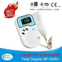 Prenatal Fetal Doppler large TFT screen Built-in Speaker Home Use Baby Pocket Heart Rate Monitor 2Mhz Probe Pregnancy Fetus