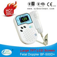 Prenatal Fetal Doppler large TFT screen Built-in Speaker Home Use Baby Pocket Heart Rate Monitor 2Mhz Probe Pregnancy Fetus