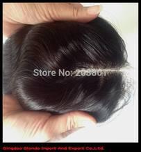 Бесплатная часть бразильские человеческие волосы закрытие отбеленными узлы необработанные волосы 4 x 4 человеческих волос продукты бесплатная доставка