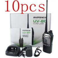 10pcs NEW Arrivel Baofeng UV-8D Two Way Radio 8W UHF 400-480MHz Dual PTT Radio 128CH VOX 2800 mAh Walkie Talkie