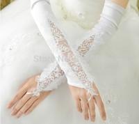 2014  new arrival wedding dress formal dress satin gloves bridal gloves wedding gloves fingerless gloves st07
