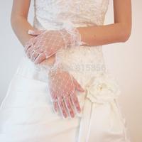 2014 bride wedding gloves lace gloves short gloves yarn sst024