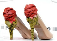 free shipping Stereo Rose heeled shoes, comfortable hot new sexy fashion women shoes,