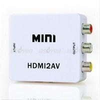 New Mini RCA CVBS HDMI to AV 720P/1080P video Signal Converter Adapter For HD TV Free Shipping & Drop Shipping