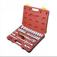 "SunRed BESTIR taiwan excellent  32PCS 12PT 12.5MM mechanical tool 1/2"" socket set for auto mining aviation repair NO.91320"
