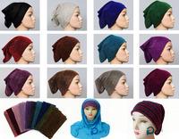 glittery head band tube turban Underscarf hijab cap tube mixed 10 Colours 24pc/lot free ship