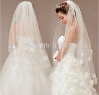2014 The bride wedding dress the wedding veil multi-layer 2 veil style yarn 80cm-100cm