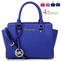 2014 Hot Sales High Quality gorgeous Genuine Leather with cross pattern Women Handbag Ladies Shoulder Tote Bags  Free shipping