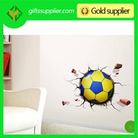 Christmas gifts light sensor DIY wall sticker wall lamp hot football shape 3D LED night light for kids sleep bedroom light
