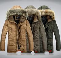 New Arrival Winter Men Down Coat Parkas Sports Outdoor Man Clothing Fashion Brand Military Men's Coats Fur Windproof Plus Size
