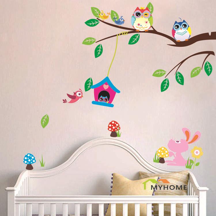 Extra ble animales de dibujos animados beb ni o - Pegatinas para dormitorios ...