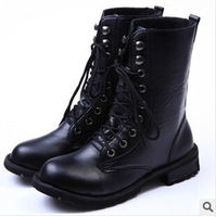 new 2014 wholesale and retail in Europe and the motorcycle boots The bottom of the thick heel boots