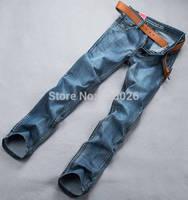 New 2014 Retail Fashion High Quality Nostalgic Blue Cotton Brand Mens Jeans Men Jeans Famous Brand True Jeans Explosion Models