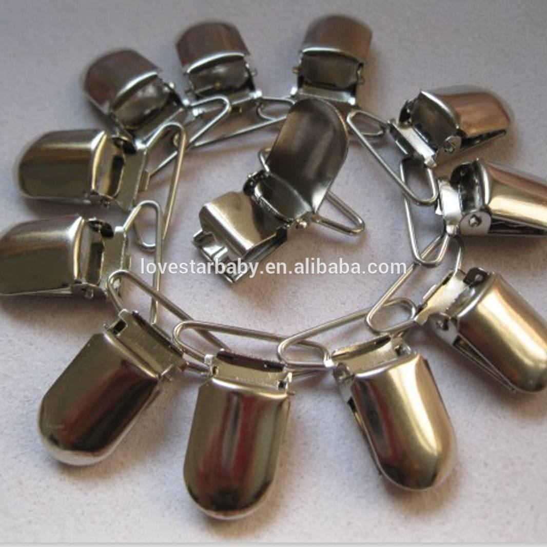 卸売12個強い金属ボタンシルバーduckbilledグリップフッククリッ... 卸売12個強い金