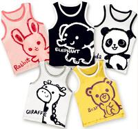 2014 Unisex Roupas Character Hot Children Tank Cartoon Vest Sleeveless T Shirt Kids Summer Clothes Boy Girl Cotton Free Shipping