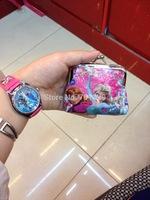 New fashion 10pcs/lot baby girls Frozen Coin Purses/kids Snow Queen wallet/chilldren princess Elsa Anna money bag,party supplies