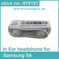 2000pcs/lot New flat noodle In-Ear Earphone Headphones with Remote and MIC for Samsung Galaxy S4 i9500 DHL free