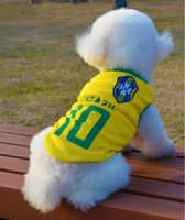 20pcs/lot Dog vest 2014 New Football World Cup sports vest for pets dog's summer clothes pet clothing costume for dogs