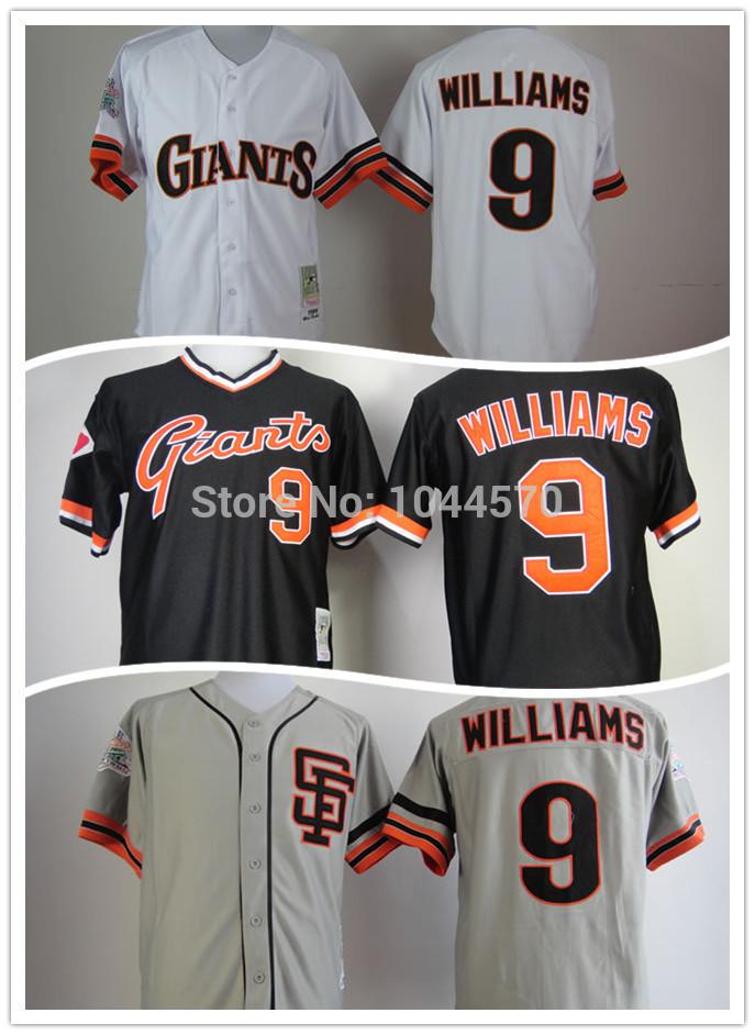2014 new style SF Giants men's Baseball Jersey #9 Matt Williams Embroidery Jersey,San Francisco Giants size M-3XL,Cool base(China (Mainland))