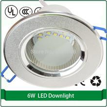 "free shipping smd led downlight 3pcs/pack 2.5"" 100mm downlight lamp holder 6w 220v 5w 6w 24 smd 3528 smd led rgb downlight(China (Mainland))"