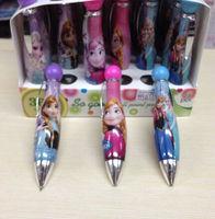 Free Shipping Elsa&Anna 24pcs/box Frozen Ballpoint Pen Kids Study Gift School Study Goods Plastic Promotional Pen