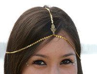 chain headpiece. head chain. hippie head piece  hamsa Hair chain headdress