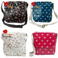 FREE SHIPPING white little birds mini messenger bag brand design women pocket bag blue spot mini shoulder bag cath kew sprig bag