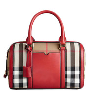 Free Shipping women female plaid brand preppy style genuine leather handbag girls casual bucket bag shoulder messenger tote bag