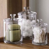 *Free Shipping*LY2986 1 piece Small fashion glass storage jar candy jar (diameter 10cm,height 15cm)