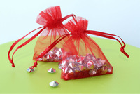 Free Shipping,100pcs/lot Red Organza Bags 7x9cm,Christams & Wedding Gift Bags,Jewlery Bags Gift,promotion price and high quality