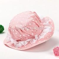 Retail children spring outdoor popular cotton fishing cap girl autumn fashion lace princess bucket hat 48cm 50cm