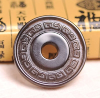 Medallion natural obsidian stone ice numismatics pendant Transshipment insulation protect peaceful