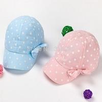 Retail children spring outdoor popular bowknot sport caps girl autumn fashion baseball hats 48cm 50cm