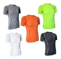 2014 outdoor sports quick-drying short-sleeved t-shirt tight, quick-drying thermal tights male sweat