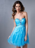2014 fashion Beading sweetheart blue Homecoming Dresses short prom dresses party gowns custom made 1192