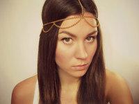 SALE Gold headpiece, egyptian head chain