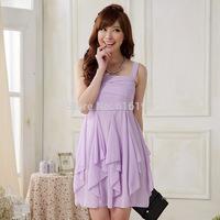 Free Shipping Uncommon Women Lavender Dress Summer 2014 New