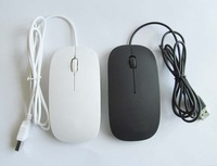 Free shipping 2014 Top Selling usb wired mouse mice super slim mouse for free shipping
