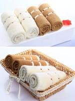100 PCS High Quality Cotton Children Hands Towels Kids Lovely Kerchief Baby Pinafore Saliva Towel Wipe Handkerchief  34*34CM