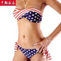 Wholesale flag banner Bra Bikini swimsuit bikini swimsuit wholesale factory direct foreign trade