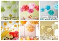 ree Shipping 15pcs mixed 3 sizes(10cm,15cm,20cm)Tissue Paper Pom Poms Wedding ,Party, Baby Shower, Nursery, Festival Decoration