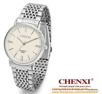 2014 ultrathin lovers watch New Luxury Sport Stainless Steel Date Quartz Analog Black Dial Mens Wrist Watch Chenxi ebay black