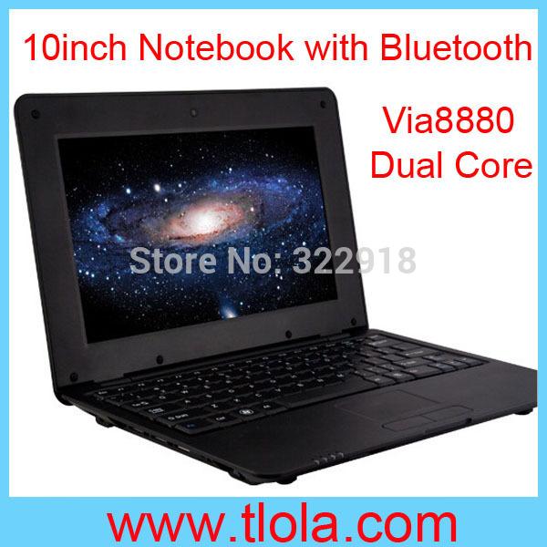 10pcs/Lot DHL Free Shipping to USA: Cheap Mini Laptop with Via8880 Dual Core Cortex A9 1.5GHZ 1GB RAM 8GB HDD 10 inch(China (Mainland))