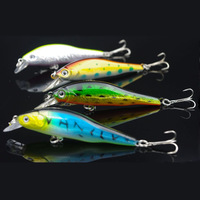 2014 New Free Shipping 4pcs/lot 9cm 10g Fishing Lures Crankbait Crank Bait Bass Tackle Treble Hook Fishing tackle