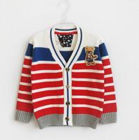 2014 children's clothing 100% V collar cotton child sweater male child 100% cardigan sweater cotton sweater