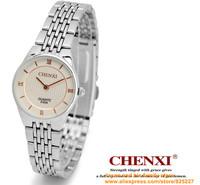 2014 ultrathin lovers watch New Luxury Sport Stainless Steel Date Quartz Analog white Dial women Wrist Watch Chenxi ebay black