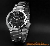ultrathin lovers watch New style Luxury Sport Stainless Steel Date Quartz Analog white Dial man Wrist Watch Chenxi ebay black