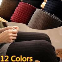 12 Colors Plus Size 2014 New Arrival Women's Leggings High Quality Fashion Knitted Slim Leggings Comfortable Leggings For Women